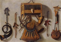 nature morte aux instruments de chasse by antonius leemans