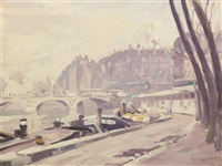 les quais de la seine, paris by george oberteuffer