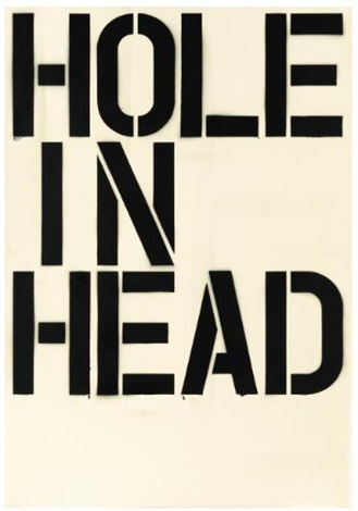 head by christopher wool