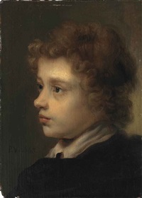 head study of a young boy by pieter harmensz verelst