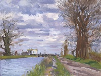 early spring, ballyfermot, county dublin by maurice macgonigal