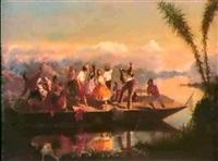 fiesta en el lago de texcoco by edmund g. antrobus