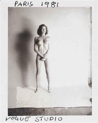henrietta, beginning of the big nudes, vogue studio, paris by helmut newton