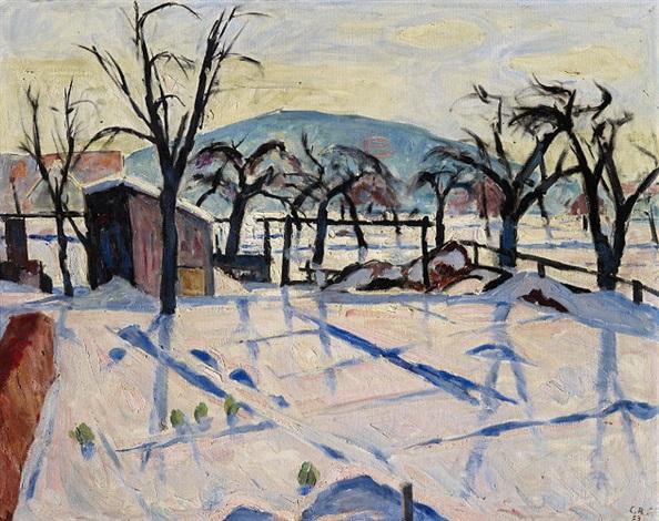 Garten Im Winter garten im winter by carl roesch on artnet