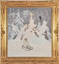 weihnachts-winterwald by max kahrer