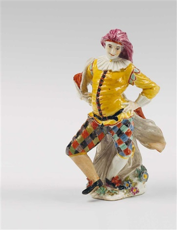 a meissen figure of a dancing mezzetin