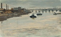 a grey morning, battersea by walter greaves