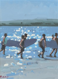 surfers by john morris