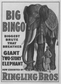 big bingo by posters: circus