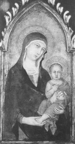 the madonna and child by simone martini