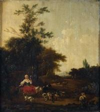 repos d'une bergère et de son troupeau by adam de colonia
