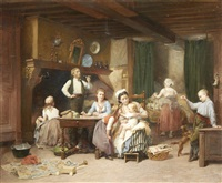 family time by charles auguste romain lobbedez