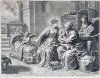 la virgen y el niño con san joaquin y santa ana by peeter de jode the younger
