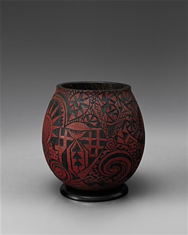 early footed vase by alexandre noll