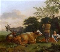bergers et troupeau by bruno gimpel