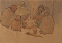 untitled (potato eaters) by zainul abedin