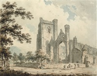 a view of dunkeld cathedral, perthshire by edward dayes