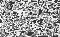 parade funèbre pour charles estienne (14 works) by jean dubuffet