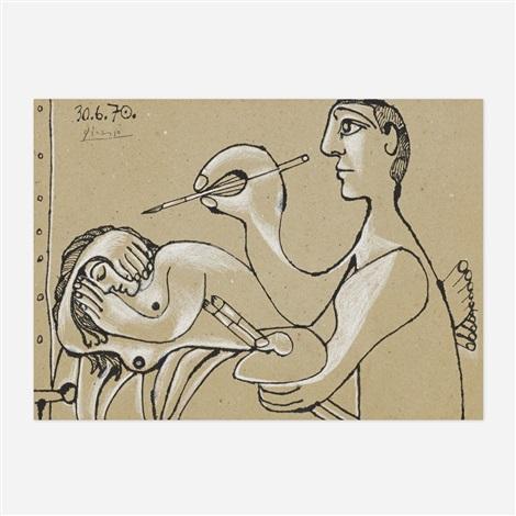 le peintre et son modèle i by pablo picasso