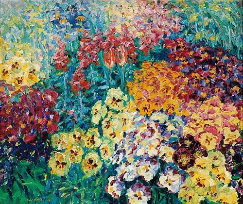 blumengarten: stiefmütterchen (flower garden: pansies) by emil nolde
