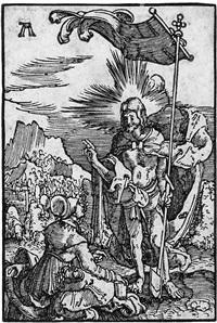 christus erscheint der magdalena (from sündenfall und erlösung des menschengeschlechts) by albrecht altdorfer