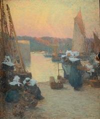 bretonnes sur le port de concarneau by fernand marie eugène legout-gérard