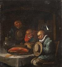 intérieur de taverne by egbert van heemskerck