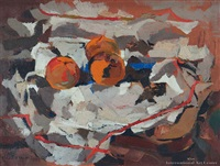 still life with tangerines by douglas macdiarmid