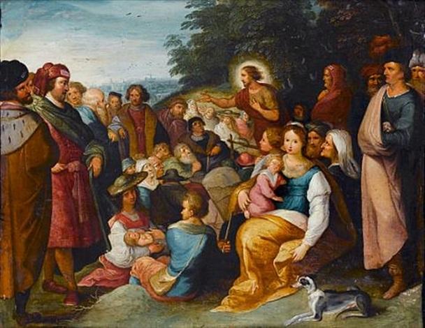 saint john the baptist preaching by hieronymus francken iii
