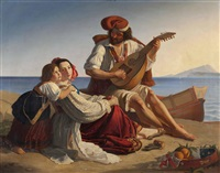 mandolinenspieler by august riedl