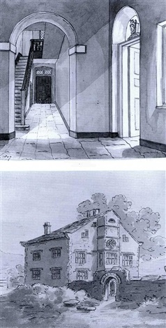 albums of drawings of landscapes and interiors by sir thomas gage