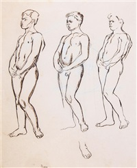 untitled (figure study) by edward burra
