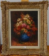 vase de fleurs by alfred théodore joseph bastien
