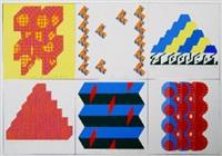 t-slot/dart/ziggurat 3/ziggurat 4/freeway 2/trio (6 works on 1 sheet) by joe tilson