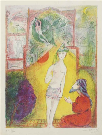 four tales from the arabian nights by marc chagall