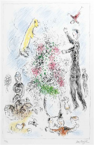 les lilas by marc chagall