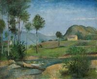 paysage á beaulieu / krajina v beaulieu by otakar (othon) coubine