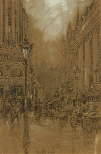 picadilly circus by george wharton edwards