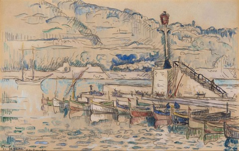 le port de villefranche by paul signac