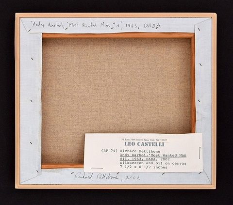 andy warhol most wanted man ii by richard pettibone - Most Wanted Picture Frame