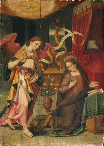 the annunciation by michiel coxie the elder