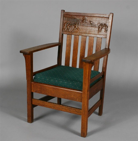 Rare Mission Baseball Arm Chair By Arts U0026 Crafts Mission