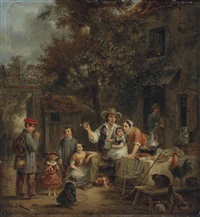 a family welcome for the returning traveller by jean alphonse roehn