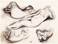 female nudes (double-sided) by béla kádár