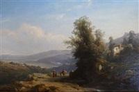 paysage d'italie by francois antoine leon fleury