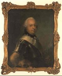 porträt af greve henrik d. 3. af reutz-lobenstein by peder als