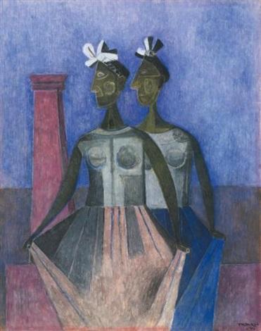 las danzantes del itzmo by rufino tamayo