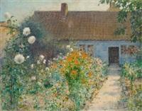 le jardin au printemps by leopold muller