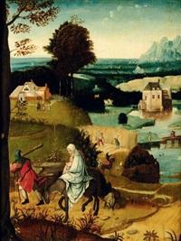 paysage avec la fuite en egypte by cornelis massys