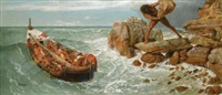 odysseus und polyphem (odysseus and polyphemus) by arnold böcklin the elder